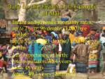 data on the health of the people of mali