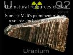 the natural resources of mali