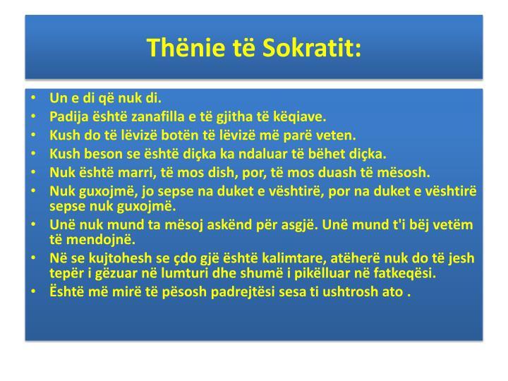Thënie të Sokratit: