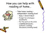 how you can help with reading at home