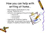 how you can help with writing at home