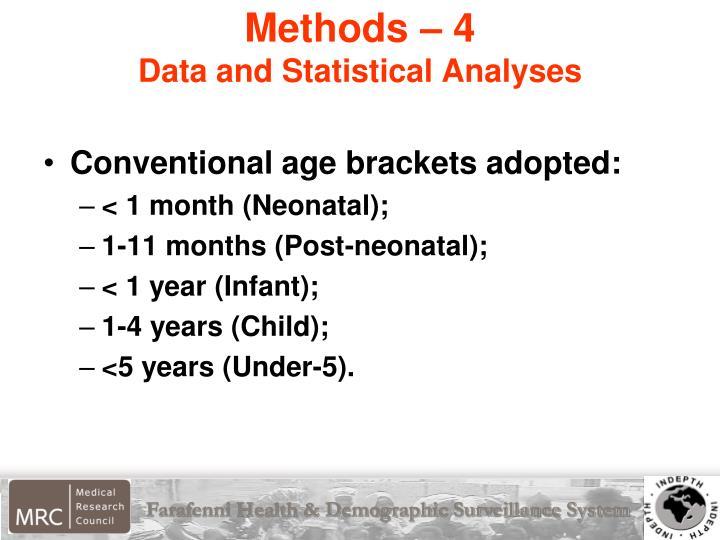 Methods – 4