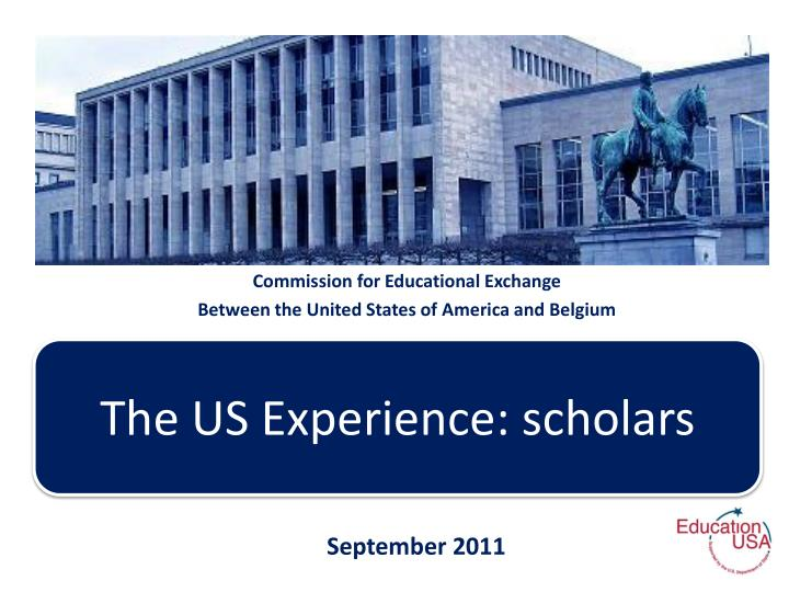 Commission for educational exchange between the united states of america and belgium