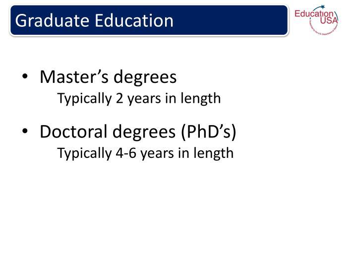 Graduate Education
