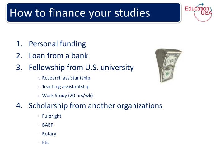How to finance your studies