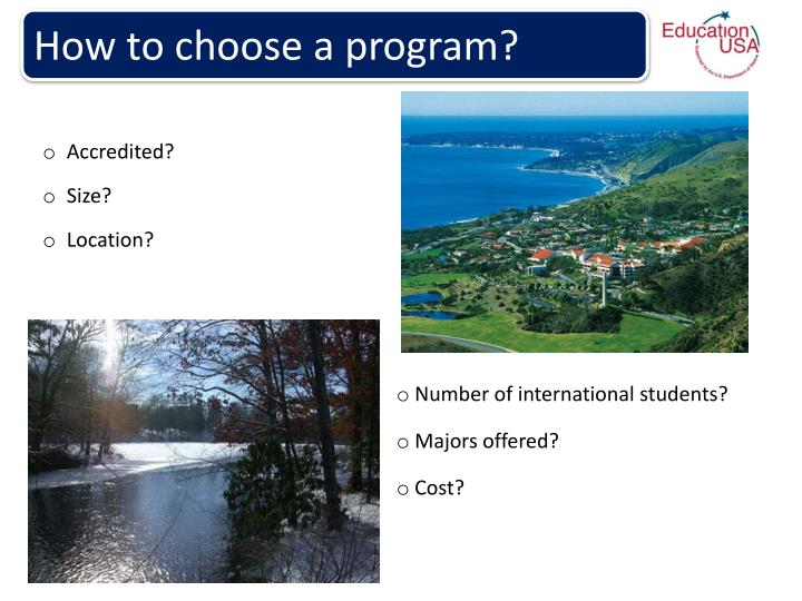 How to choose a program?