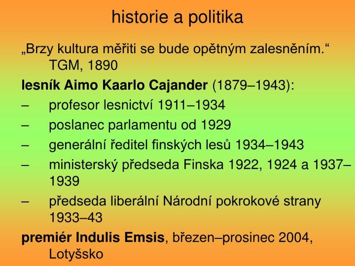 historie a politika