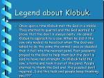 legend about klobuk
