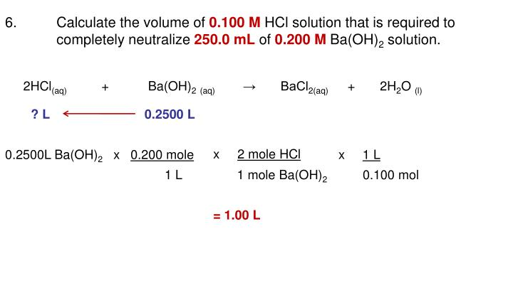 6.Calculate the volume of