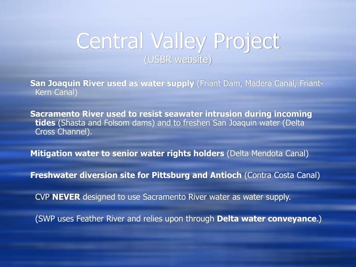 Central Valley Project