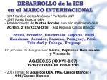 desarrollo de la icb en el marco internacional