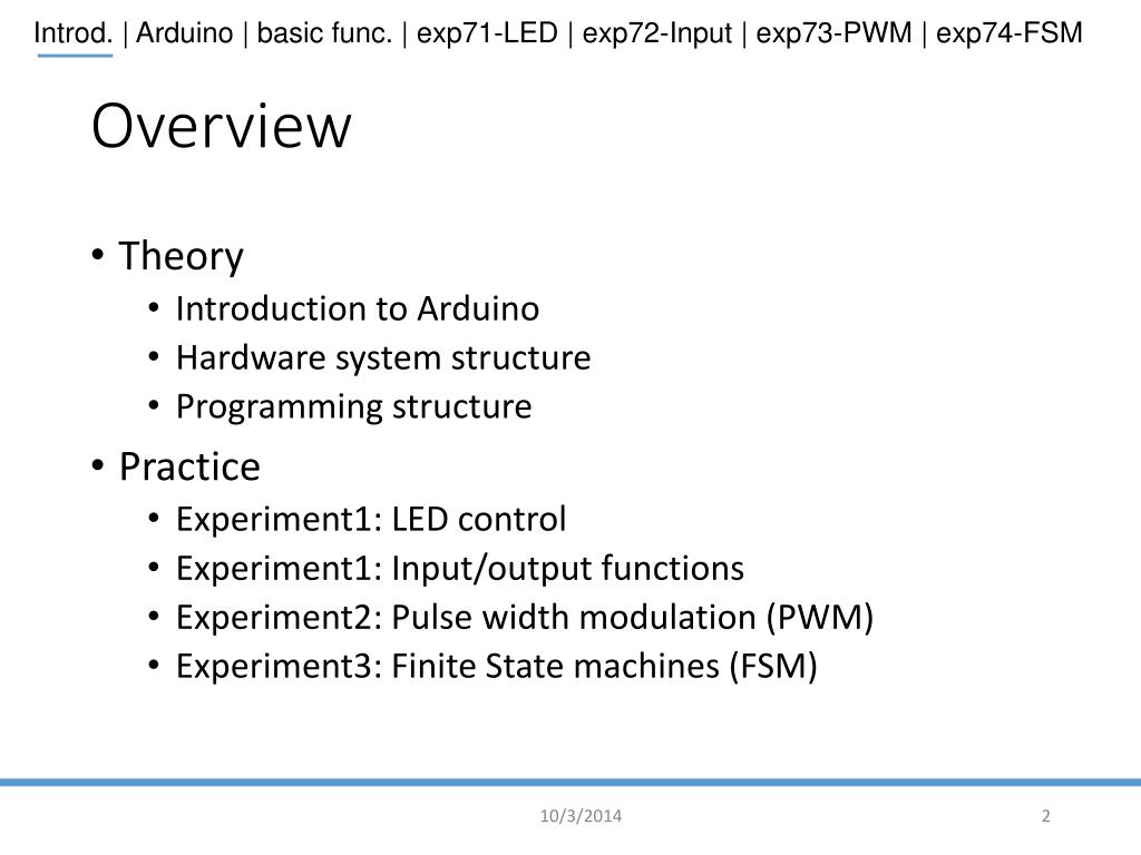 PPT - Lab7: Introduction to Arduino PowerPoint Presentation - ID:4130450