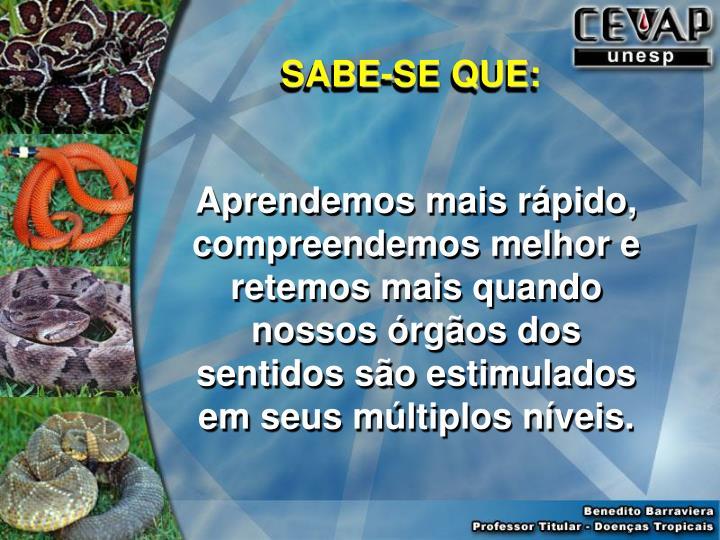 SABE-SE QUE: