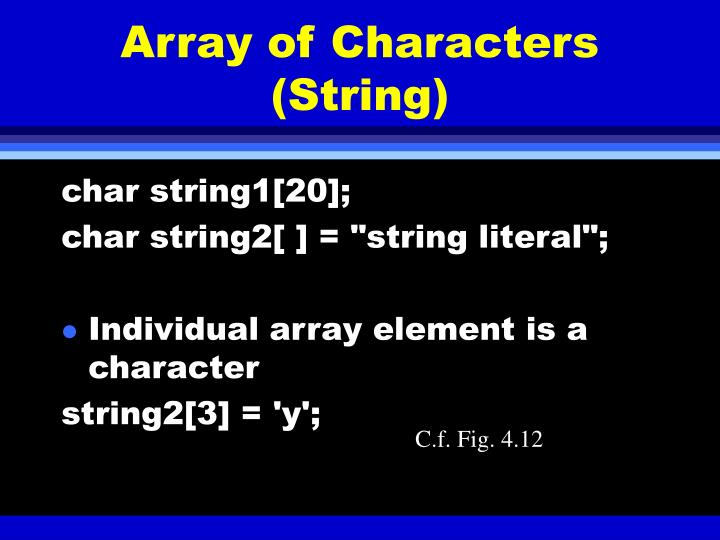 Array of Characters (String)