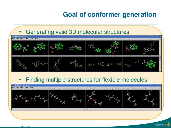 Goal of conformer generation