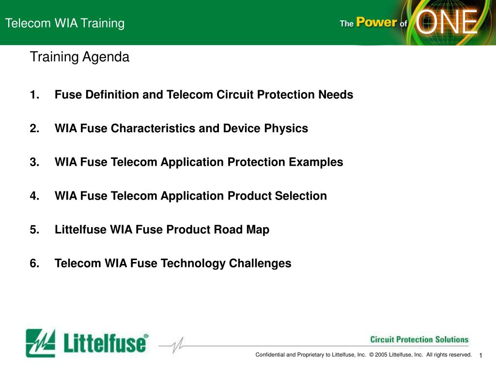 Ppt Telecom Wia Training Powerpoint Presentation Id4130903 Fuses Types Of Littelfuse N