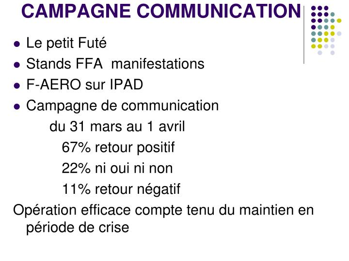 CAMPAGNE COMMUNICATION