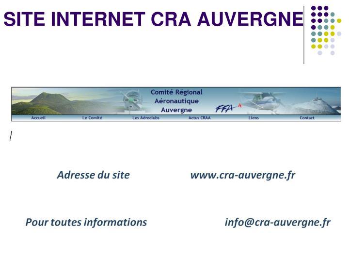 SITE INTERNET CRA AUVERGNE