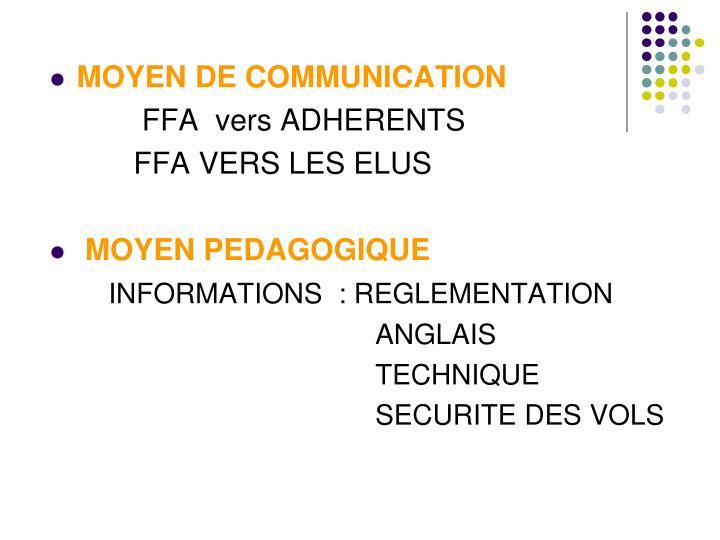 MOYEN DE COMMUNICATION