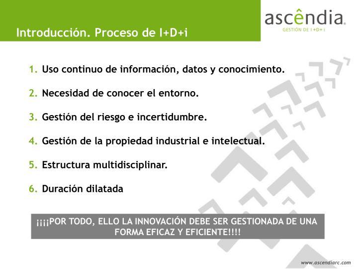 Introducción. Proceso de I+D+i