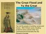 the great flood and yu the great