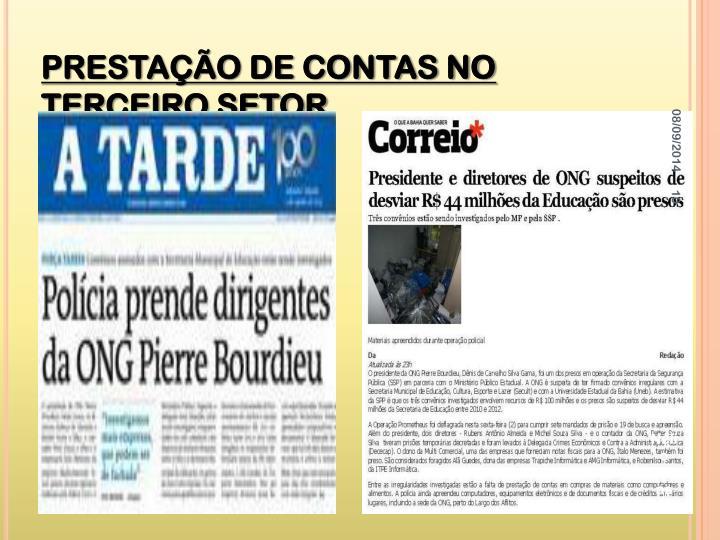 PRESTAÇÃO DE CONTAS NO TERCEIRO SETOR