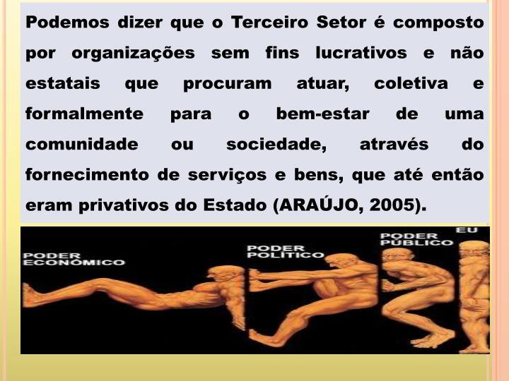 Podemos dizer que o Terceiro Setor é composto por organizações sem fins lucrativos e não estatai...