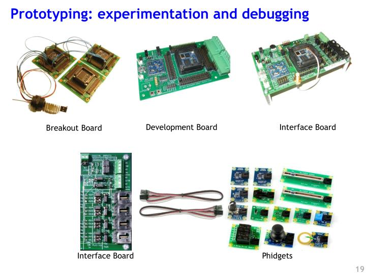 Prototyping: experimentation and debugging
