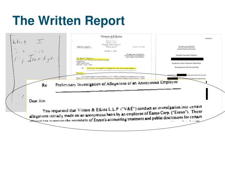 The Written Report