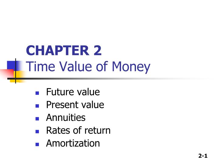 chapter 2 time value of money n.
