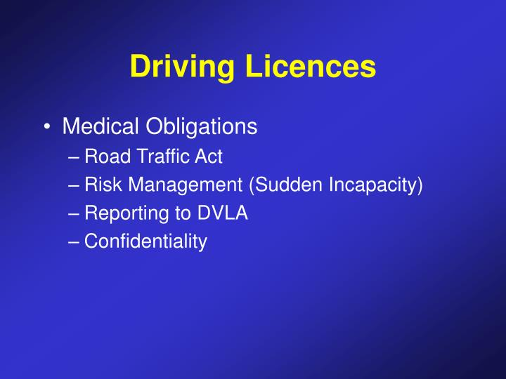 Driving Licences