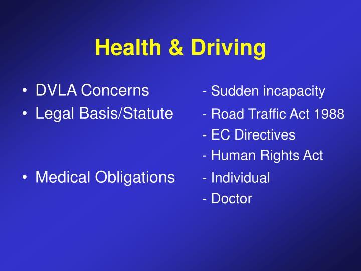 Health & Driving