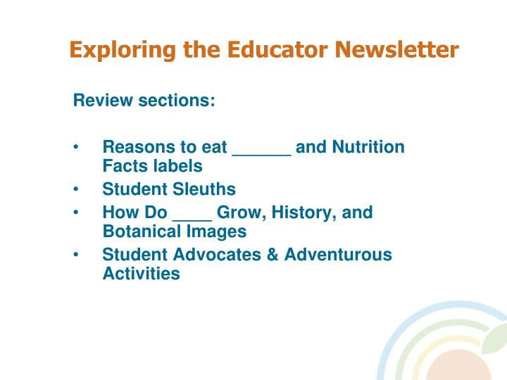 Review sections: