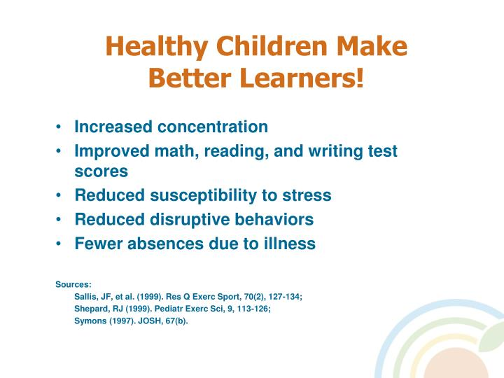 Healthy children make better learners