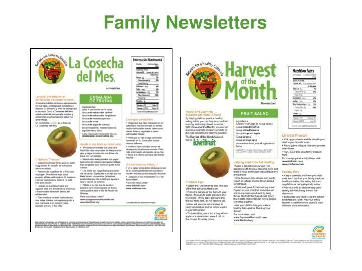 Family Newsletters
