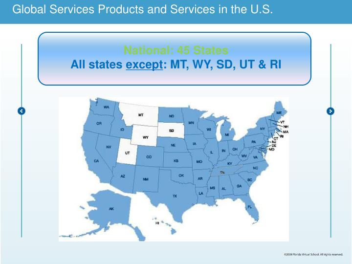 Global Services Products and Services in the U.S.