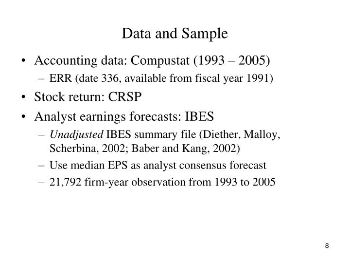 Data and Sample