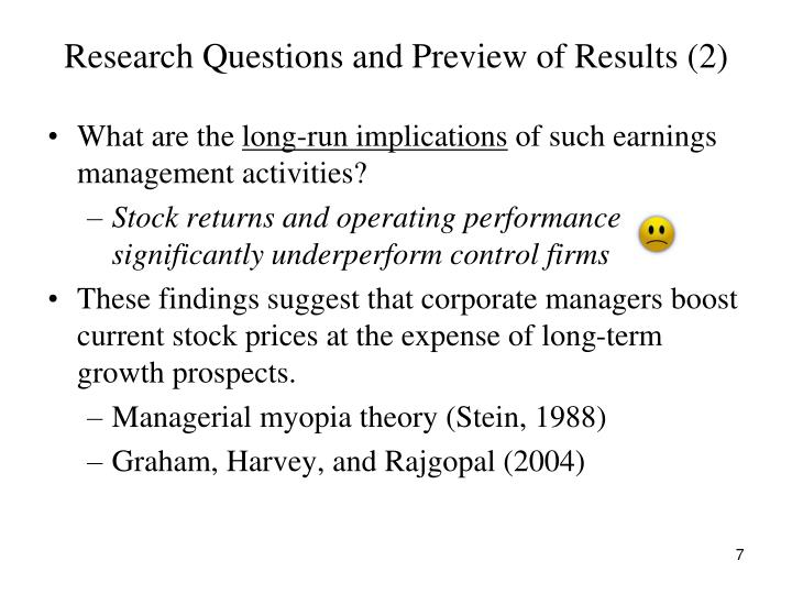 Research Questions and Preview of Results (2)