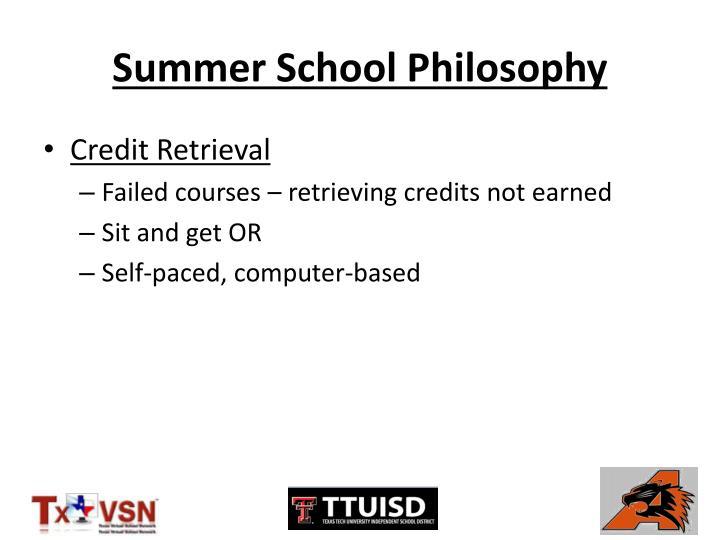 Summer school philosophy1