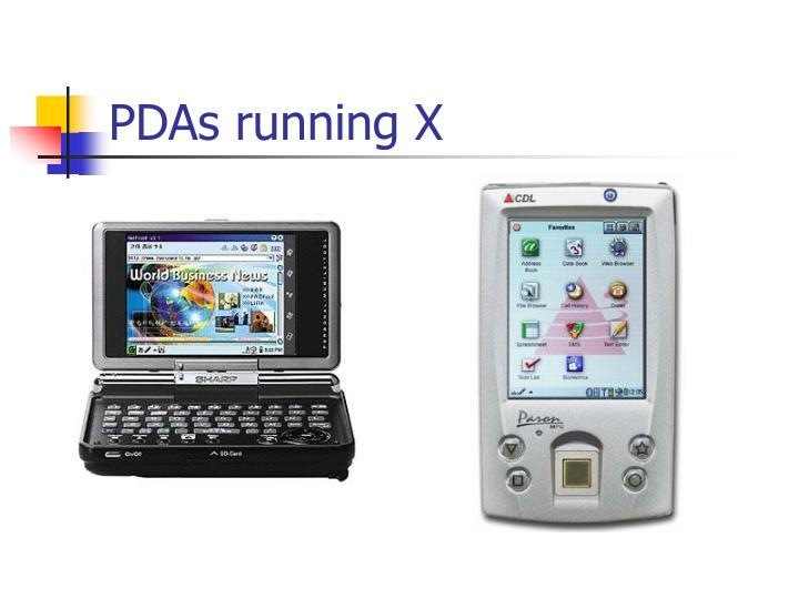 PDAs running X