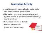 innovation activity