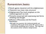 romanticism basics