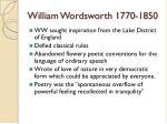 william wordsworth 1770 1850