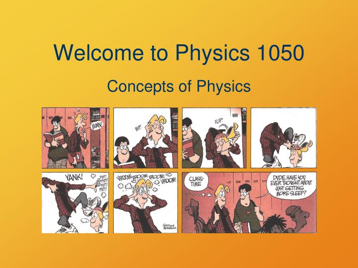welcome to physics 1050 n.