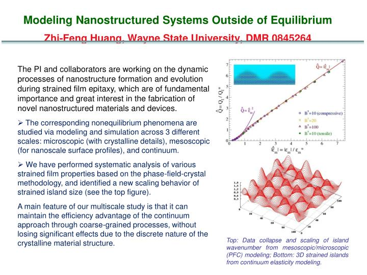 Modeling Nanostructured Systems Outside of Equilibrium