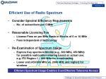 efficient use of radio spectrum
