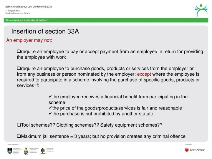 Insertion of section 33A