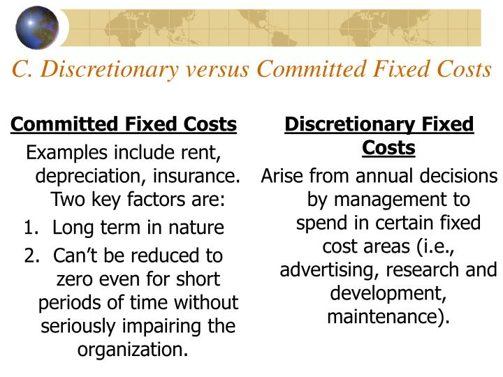 Committed Fixed Costs
