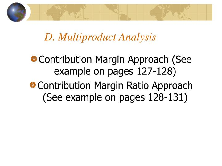 D. Multiproduct Analysis