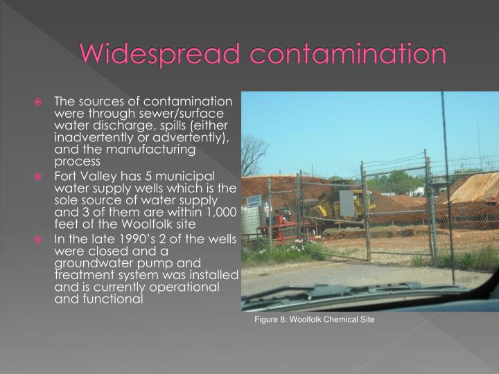 Widespread contamination